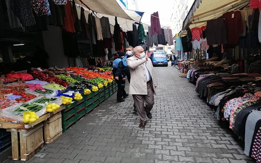 PAZAR ALANI DENETLENDİ